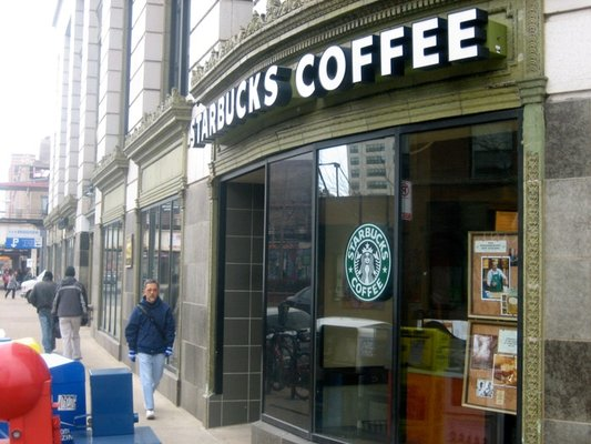"""""""Starbucks Broadway Lawrence,"""" from Yelp, via Make It Like a Man! Cafe Coworking 1"""