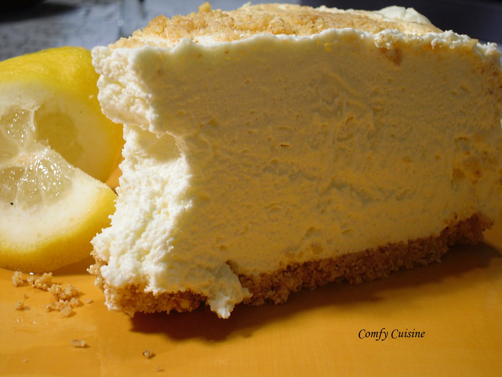 "No-Bake Whipped Cream Cheesecake,"" from Comfy Cook, via Make It Like ..."