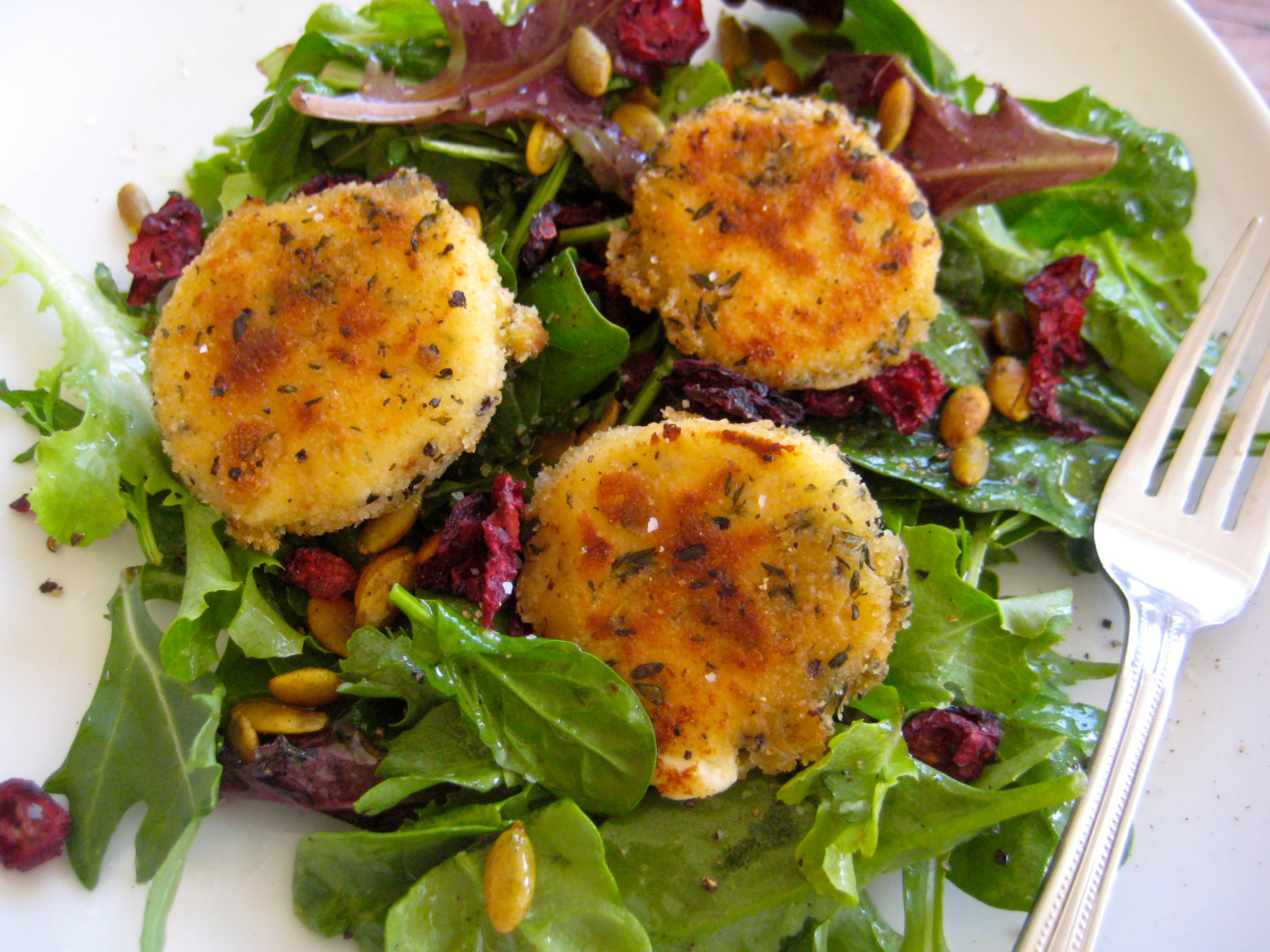 """Baked Goat Cheese Salad,"""" from Seasoned to Taste, via Make It Like a ..."""