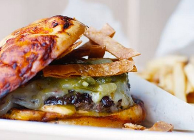 """The WTF Burger at SpritzBurger,"" from Pure Wow, via Make It Like a Man! Swap It Chicago"