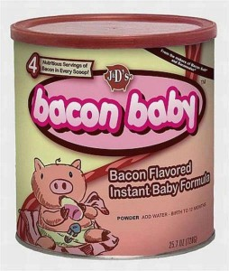 """""""Bacon Baby,"""" on Facebook, via Make It Like a Man! Bacon Wrapped Meat Roll"""