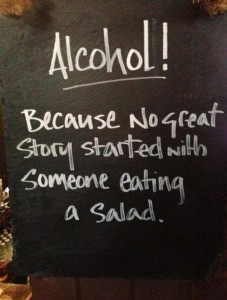 """""""Because No Great Salad,"""" from The Chive, via Make It Like a Man! Salad and Ranch Dressing"""