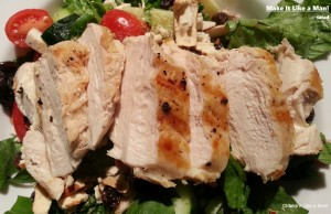 """""""Grilled Chicken Salad,"""" from Make it Like a Man! Salad and Ranch Dressing"""