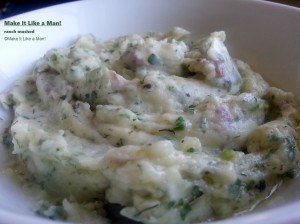 Ranch Mashed Potatoes, from Make It Like a Man! Salad and Ranch Dressing