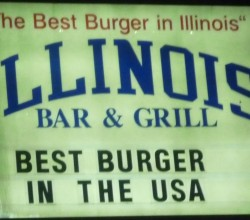 """Illinois Bar and Grill,"" from Chicago BBQ King, via Make It Like a Man! Free Wi-Fi in Archer Park"