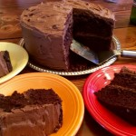 """'Mary's Dark Chocolate Olive Oil Cake,"""" from Make It Like a Man! Salted Caramel Six Layer Chocolate Cake"""