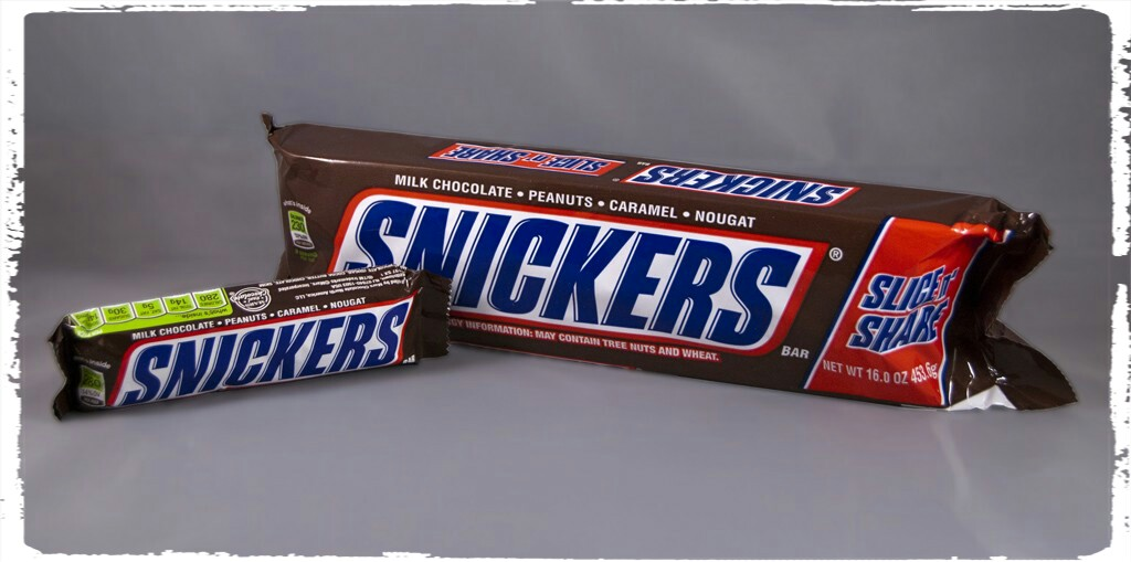 the one pound snickers they call it slice n share