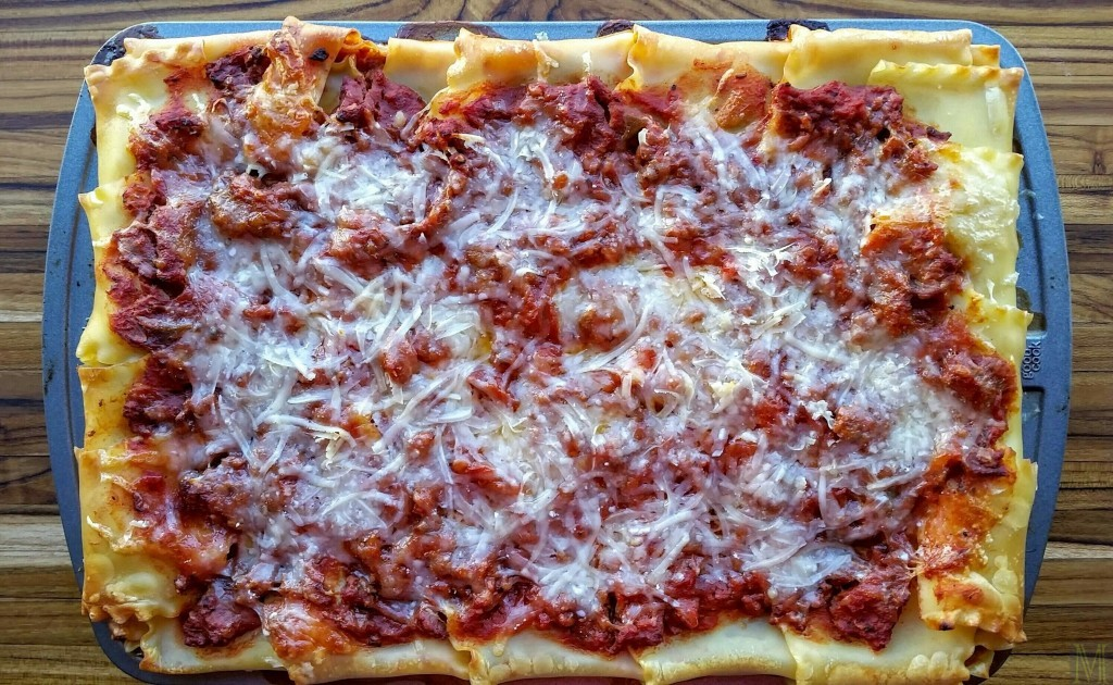 """""""Lasagna, """" from Make It LIke a Man! christmas dinner for six"""