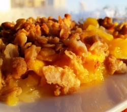 """Pineapple-Mango Crisp,"" from Make It Like a Man!"