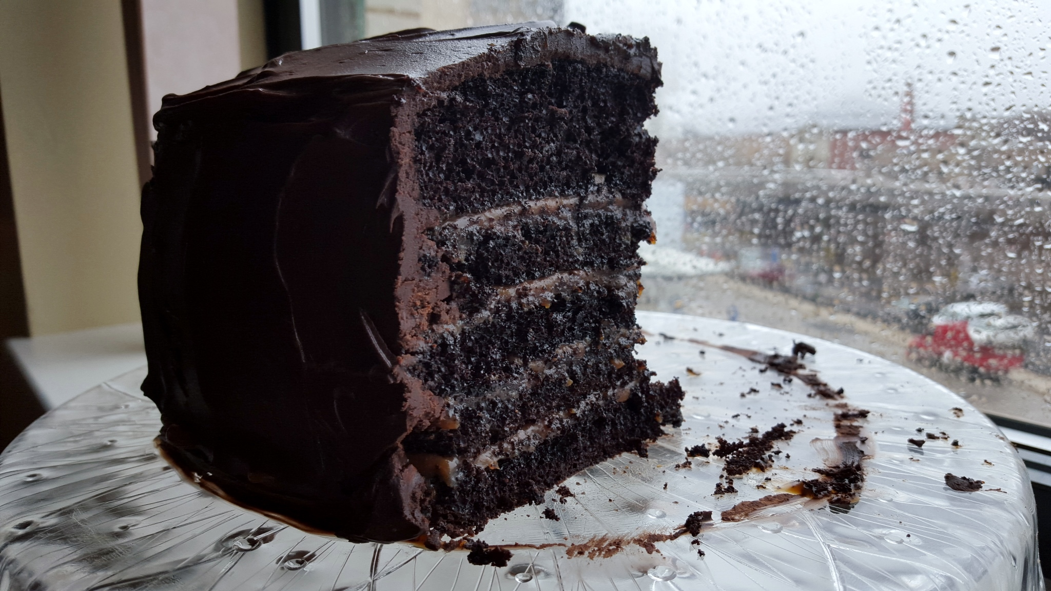 Salted Caramel Six Layer Chocolate Cake - Make It Like a Man!
