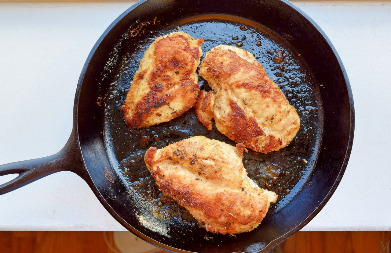 How to fry a delicious chicken in a frying pan