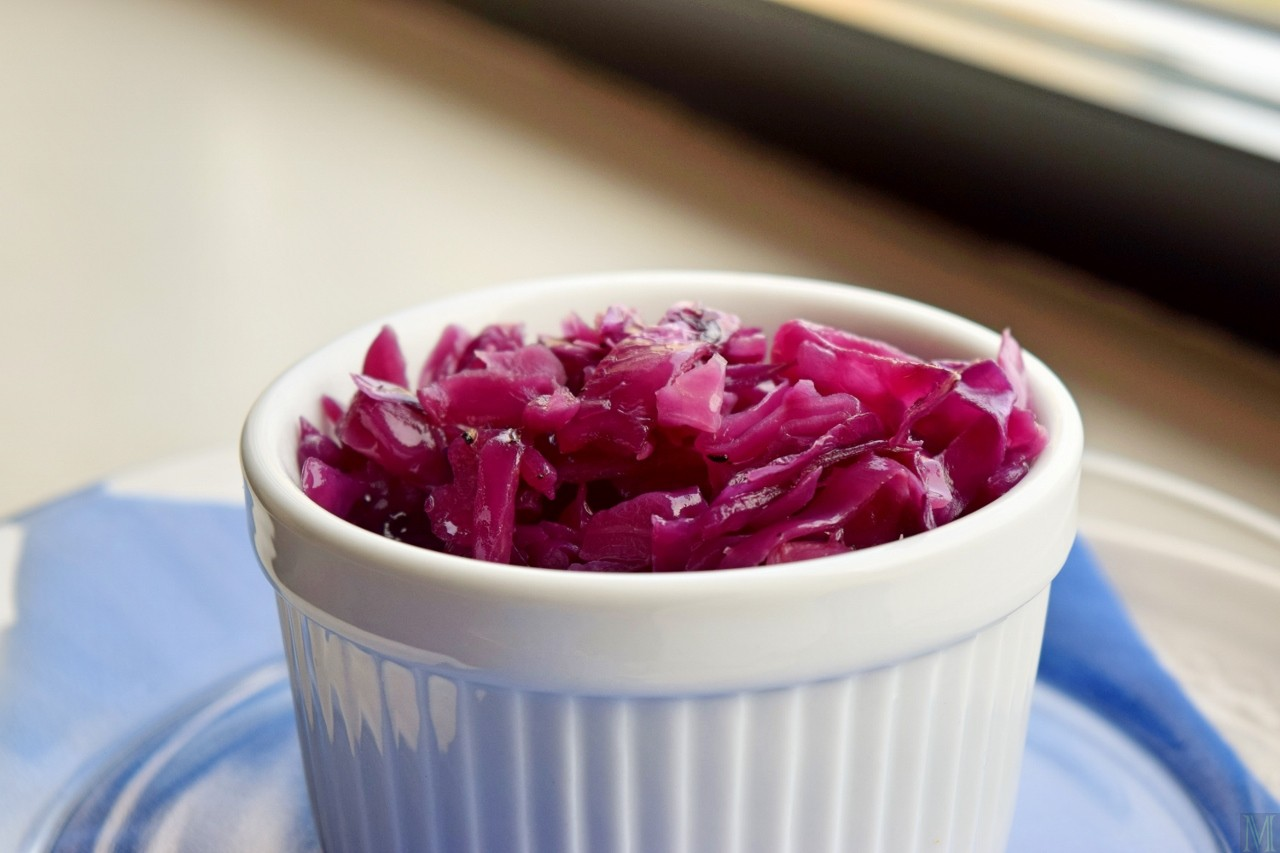 """""""Red Cabbage,"""" from Make It Like a Man! Coffee-Crusted Pork Roast"""