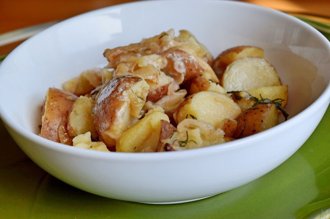 """""""Polish Boiled Potatoes with Onion and Dill,"""" from Make It Like a Man!`"""