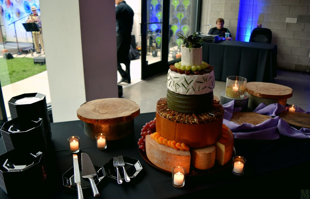 """Five-Tier Cheese Wheel Wedding Cake,"" from Make It Like a Man!"