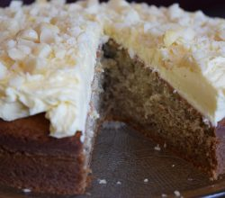 """Cordon Rose Banana Cake,"" from Make It Like a Man! Classic Lemon Buttercream Frosting"